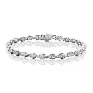 Jewelry - 3.50 Carats round cut diamonds ladies bracelet whi
